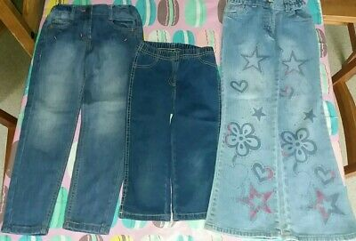 3 pairs of Girls used demin jeans size 7/8 years old.