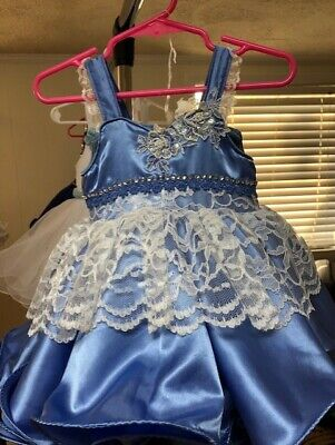 1218 Months Natural  Pageant Dress FOR RENT
