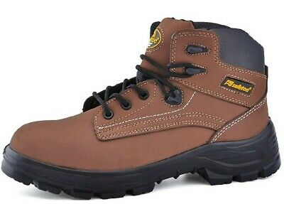 SAFETOE Mens Safety Boots Work Shoes - M8356B Brown Waterproof Leather Work Boot