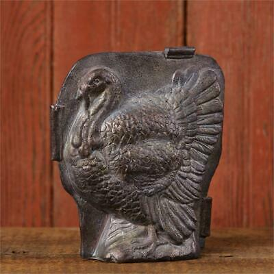 New Primitive Folk Art ANTIQUE STYLE VINTAGE TURKEY CANDY MOLD Figurine 6""