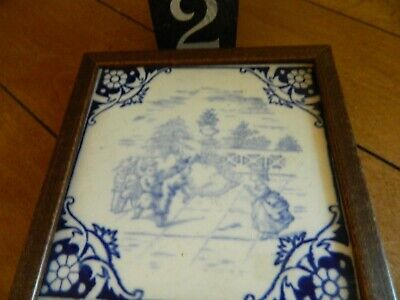 Antique Victorian Minton Hollins Childern Series Tile 1875 Lot 2