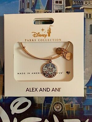 Disney 2019 ALEX & ANI True Love / Lovebirds Cinderella Rose Gold  Bracelet