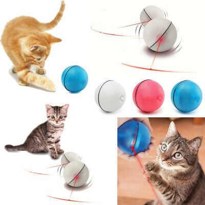 Funny Pet  Dog CatLED Light Laser Ball Teaser Exercise Automatic Interactive Toy