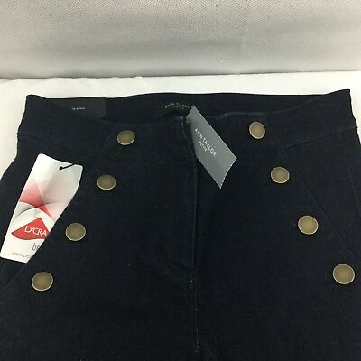 Ann Taylor Petite Sailor All Day Jeans Skinny Modern Fit Sz 00P Dark Wash NEW