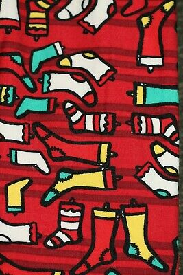 LuLaRoe L/XL Leggings - Red with Christmas Stocking fm Click & Buy Boutique