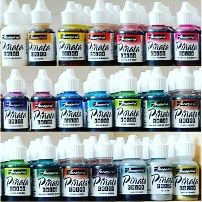 JACQUARD PINATA Alcohol Inks Bottles + New Colours For GLASS WOOD YUPO PAPER ++