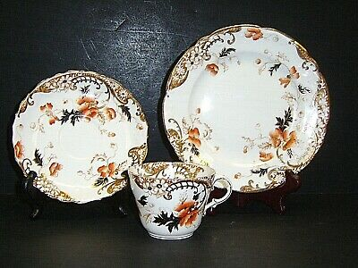 "Aynsley England Bone China Tea Cup, Saucer, & 7"" Plate Set"