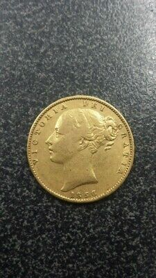 1856 Gold Sovereign Victoria Young Head Shield London