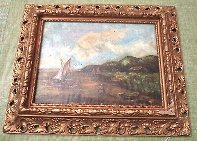 Antique Oil Painting Late 19th Century European School With Ornate Period Frame2