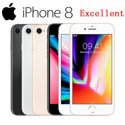 Apple iPhone 8 Smartphone 64GB 256GB Unlocked Red Gold Silver Black --Excellent