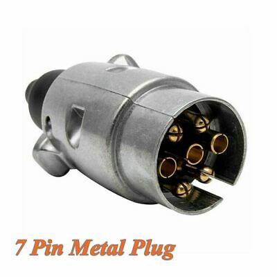 12N Towing Electrics Metal Trailer Car Plug Socket Towbar Aluminium Alloy 7 Pin