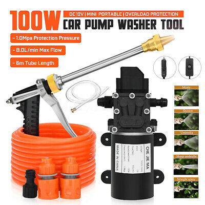 12V 200PSI High Pressure Car Washer Cleaner Water Wash Pump Sprayer Tool 6M Tube