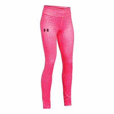 Under Armour Girls HeatGear Printed Legging Penta Pink Youth Large 1292806