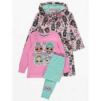 Kids Girls LOL Surpise L.O.L Pyjamas pj's Dressing Gown 3 Piece Set 3456789 Yrs