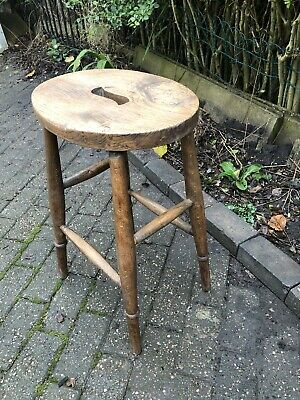 Original Vintage Country Elm & Beech Stool Kitchen Bar