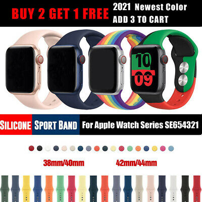 Sports iWatch Silicone Band Strap for Apple Watch 40/44mm 38/42mm Series 5 4 3 2