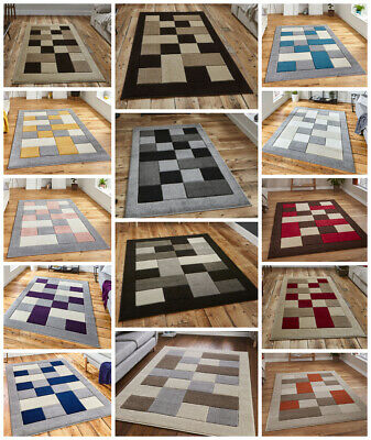 Modern Small Extra Large Runner Carved Multi Coloured Yellow Grey By Think Rug