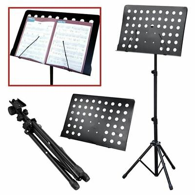 NEW Orchestral Sheet Music Stand Holder Tripod Base Adjustable Height