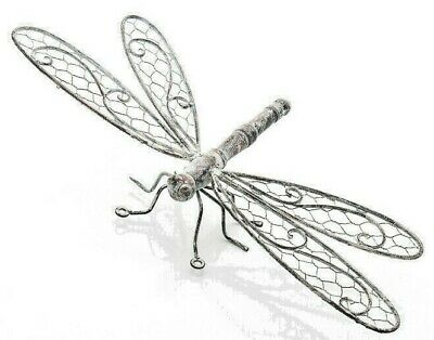Aged Metal  Dragonfly Wall Art For Home Or Garden Lovely Antique Finish