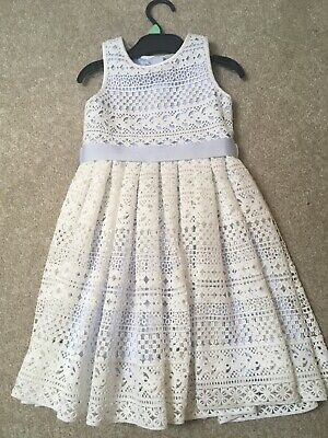 girls monsoon dress age 3 baby blue with white overlay beautiful dress worn once