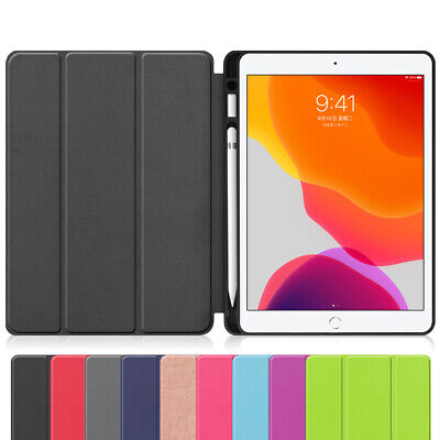 Smart Case with Pencil Holder Flip Stand Cover For Apple iPad 7th Gen 10.2 2019