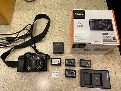 Sony Alpha A6000 Mirrorless Camera & 16-50mm f3.5-5.6 OSS W/EXTRAS
