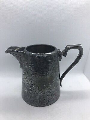 Vintage J.H Potter Sheffield Silverplate Creamer Pitcher