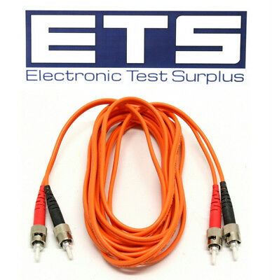 Fiber Optic ST To ST MM 62.5/125 3 Meter Optical Cable