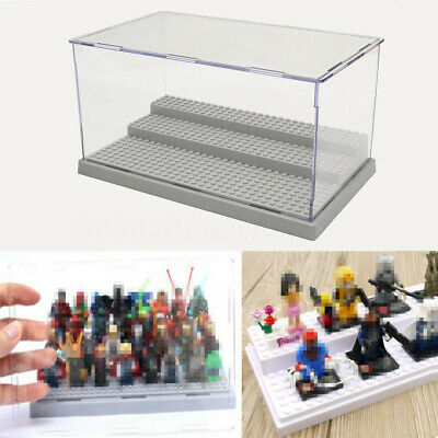 3 Step Acrylic Display Show Case Box for Lego Minifigure Assemble Dustproof h
