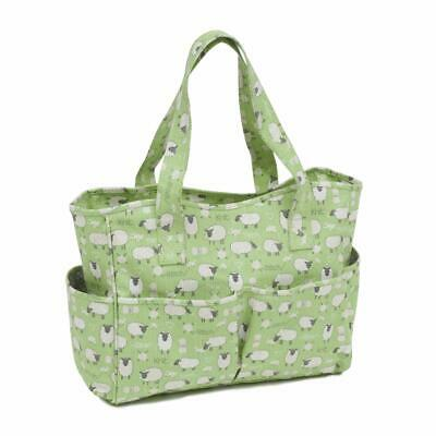 HobbyGift Knitting Craft Bag - Matt PVC: Sheep Design