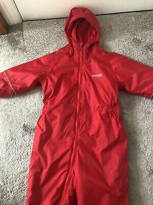 Regatta Puddle Suit Red Age 4-5 Years