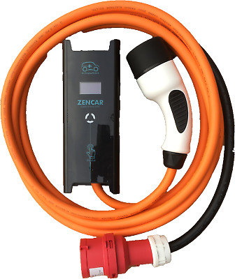 16amp 11kw EV / PHEV charging cable charger, 3 PHASE - Commando / CEE to Type 2