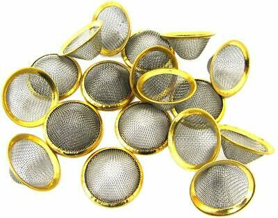 CONE SHAPED BOWL 15 20 mm STAINLESS CONICAL GAUZES GAUZE PIPE SCREEN BRASS RING