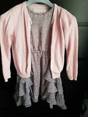 Girls outfit Next Dress And Primark Cardigan