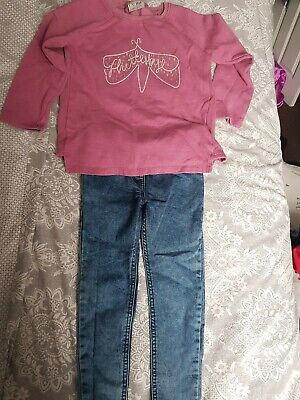Next Girl's Sweatshirt And Tu Jeggings Both Aged 6yrs