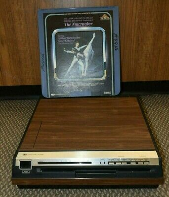 WORKING Sears CED Videodisc Player Model 934.54780150 New Belts Hitachi VIP1000