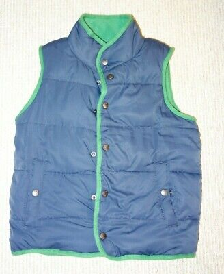 Mini Boden Boys 7-8 Years Blue puffer vest - Green Quilted Fleece Lined