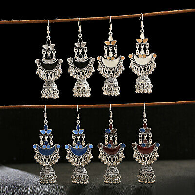 Women Vintage Bohemia Tassel Dangle Earrings Bollywood Indian Jewelry Xmas Gift