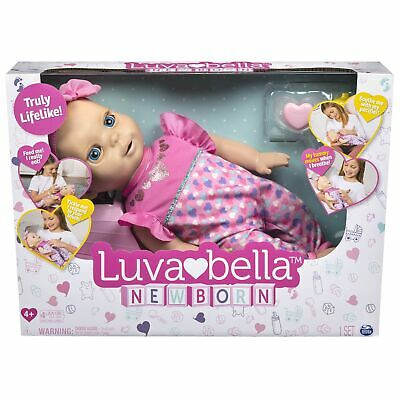 Luvabella 6047317 Newborn, Blonde Hair, Interactive Baby Doll NEW