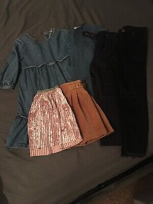 Girls Winter Bundle Dresses Skirts Jeans Paperbag Trousers Age 6 7 Years