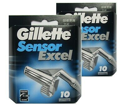 Gillette Sensor Excel  Refill Blades 20 Count - Made in Poland-Tiny Dented Cover