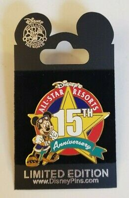 Disney Parks Collector's Pin: All Star Resorts 15th Anniversary (Disney, New)