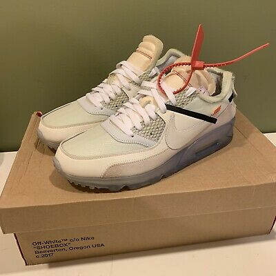 USED】NIKE × OFF WHITE THE 10 TEN AIR MAX 90 AA7293 100 Size