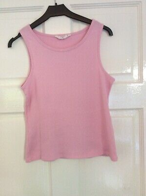 Girl's CANDY Couture Pink Ribbed Cropped Style Vest Top Age 15 years