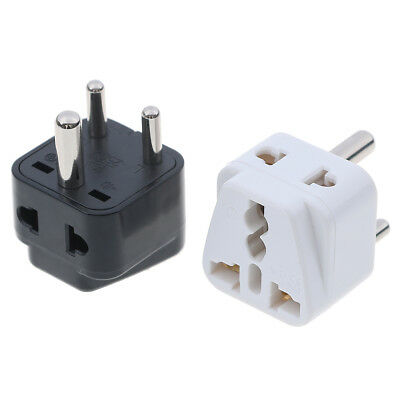 Universal travel US AU UK to India South Africa plug power convertor adapter -PN