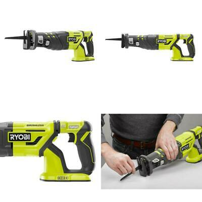 18 Volt One Cordless Brushless Reciprocating Saw Tool Only Wood Cutting Blade
