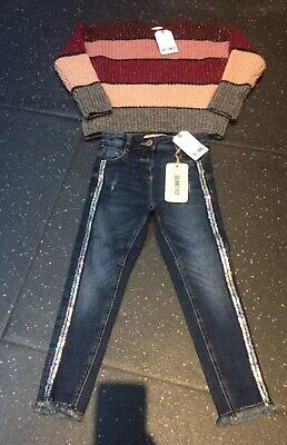 Girls Next Jeans And Jumper Age 4 Years Bnwt