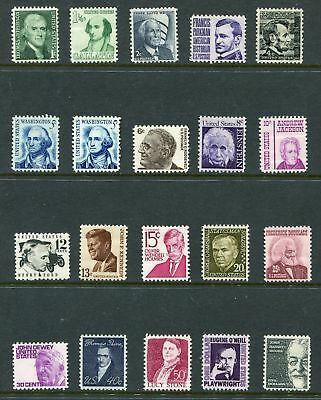 US, #1278//95 Prominent Americans set 20 stamps, MNH