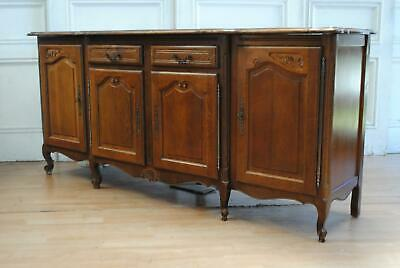 Vintage French Louis XV Oak Sideboard Cabinet Buffet Cupboard