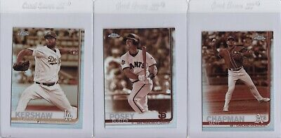 2019 Topps Chrome Sepia Refractor Insert 28Ct Lot No Duplicates Kershaw Posey